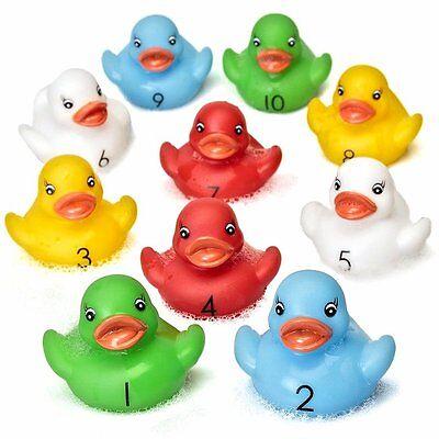 Originale 10 Conteggio In Gomma Anatre-divertimento Bagno Apprendimento Giocattoli-duck Race Raccolta Di Fondi Idea-mostra Il Titolo Originale