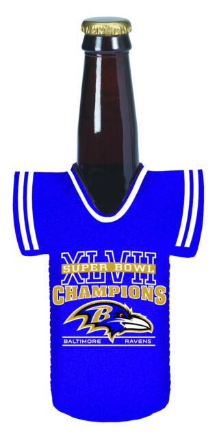 2012 - 2013 NFL Baltimore Ravens Super Bowl Champion Bottle Jersey Holder 2d6c8f42b