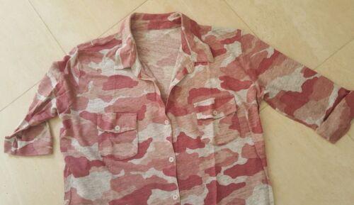 3 in Taglia lino rosa Filati Camicia 100 mimetica Majestic xH61nq8wzC