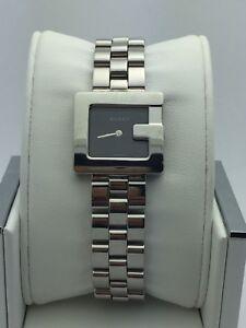 2576eb3c1e5 Gucci Ladies G Bezel Black Dial Stainless Steel Bracelet 3600L Watch ...