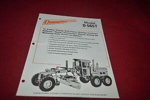 Champion D-760 Motor Grader Dealer/'s Brochure DCPA6