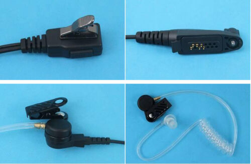 2 WIRE SURVEILLANCE MIC EARPIECE FOR MOTOROLA EX500 EX560 EX560XLS RADIO HEADSET