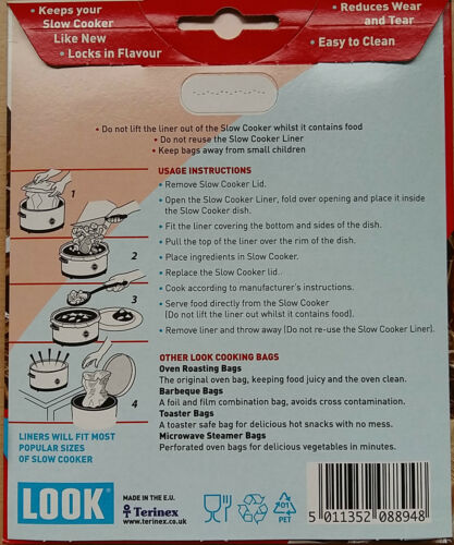 Oven Cooker Microwave Roasting Steamer Bags Liners Meat Chicken Vegetables Fish