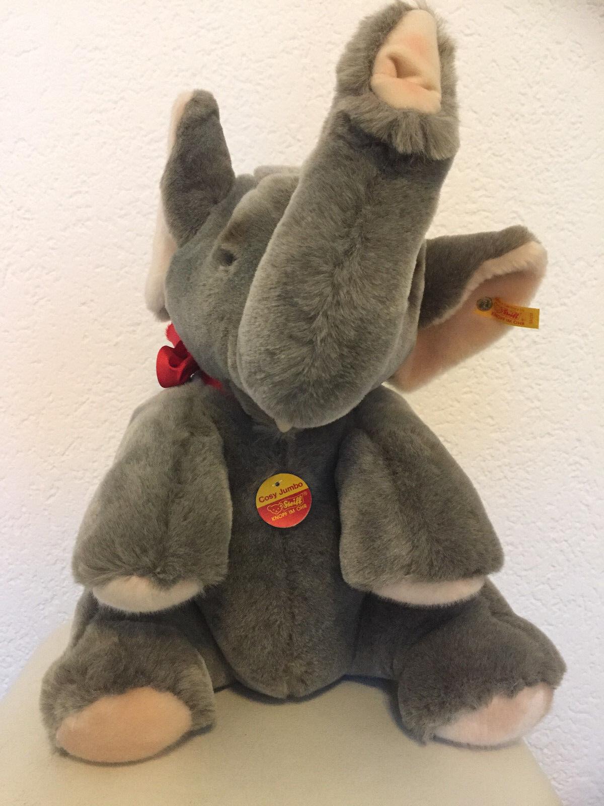 10 % Rabatt   Steiff Cosy Jumbo - Elefant - Vitrinen-Objekt -Nr. 085239