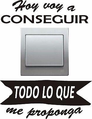 Etiqueta engomada del conmutador Lindo Pared Calcomanía Pegatina Pared Decoración del hogar frase español ref388