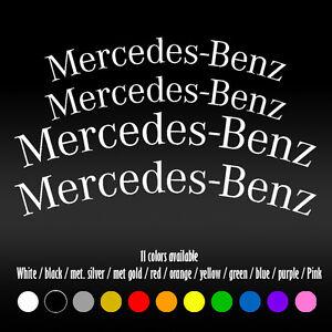 "5"" X 4"" Curve Mercedes Benz BBK AMG High Temp Brake Caliper Vinyl Decal sticker"