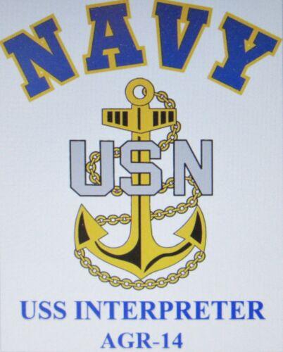 USS PROTECTOR  AGR-11* RADAR PICKET SHIP* U.S NAVY W// ANCHOR* SHIRT
