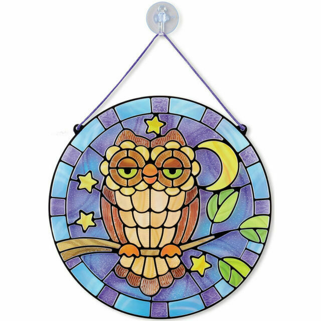 Owl NEW!! Melissa and Doug 19296 Stained Glass Made Easy