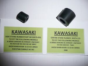KAWASAKI-H-034-750cc-MODEL-039-S-CENTRE-amp-SIDE-STAND-RUBBERS-PART-NUMBER-92075-031-115
