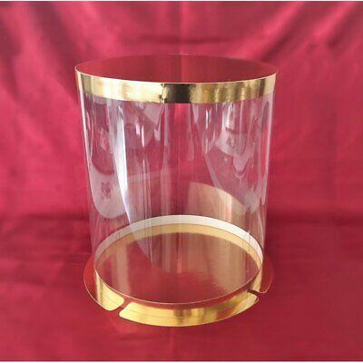 30 x Tortenbox Tortenbehälter 30x11 cm Transparent Hochzeit Party 1055W