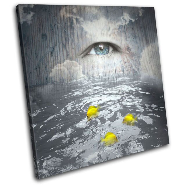 Artistic surreal concept Fantasy SINGLE CANVAS WALL ART Picture Print VA