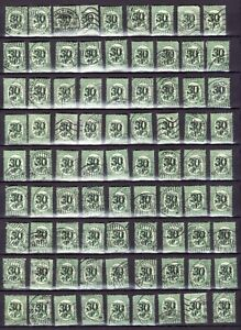 FINLAND-SUOMI-Lot-200-stamps-1919-10-p-overprint-30-p-FREE-SHIPPING-WORLDWIDE