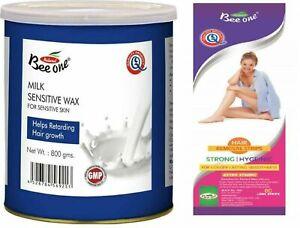 Bee-One-Milk-Sensitive-Women-Wax-80-Strip-Sensitive-Skin-Remove-Retarding-Hair