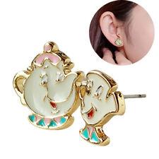 10586249f 1Pair Cartoon Beauty & The Beast Earring Mrs Potts Ear Stud Jewelry Fashion  2018
