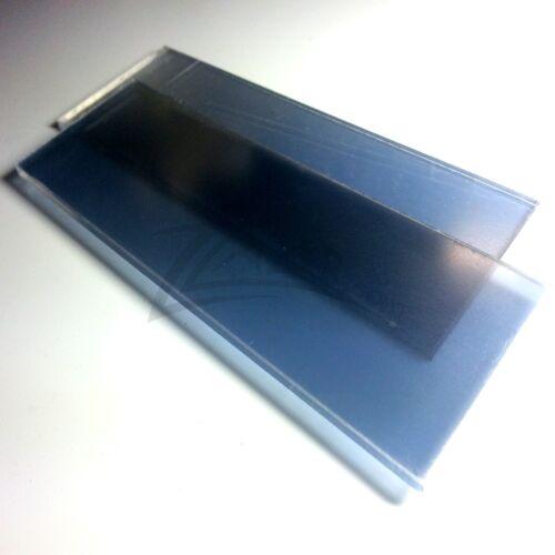 "TWO-WAY MIRROR 2/""x4/"" Acrylic Sheet See-Thru Plexiglass Surveillance Spy Security"
