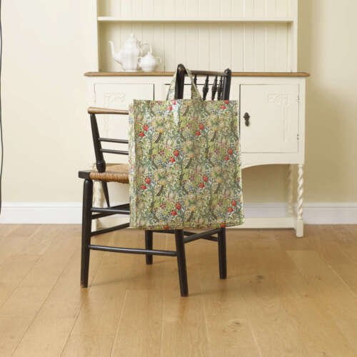 Licensed William Morris Golden Lily Large Pvc Coated Tote Shopping Bag.
