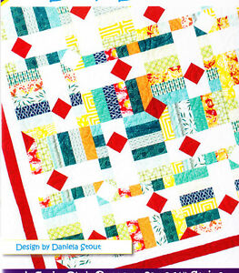 Drop-Diamonds-pieced-quilt-PATTERN-for-2-5-034-strips-Cozy-Quilts-5-sizes