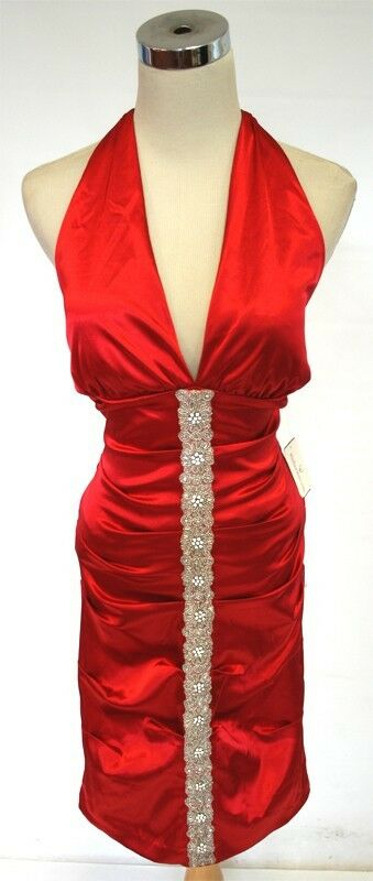 NWT WINDSOR  100 RED Juniors Prom Party Dance Dress 13