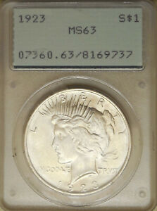 1923-Peace-Silver-dollar-PCGS-MS63-choice-uncirculated-great-luster-white