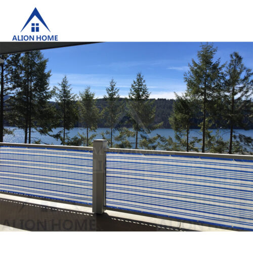 3/' Tall Custom Length Privacy Screen Patio Pool Fence Blue/&White by Alion Home©
