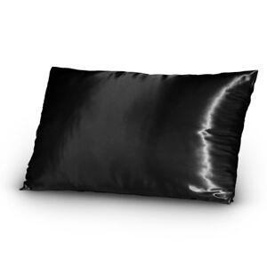 Pair-of-Satin-Lingerie-Pillowcases-Standard-Queen-Black