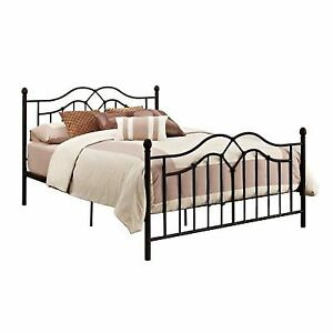 Queen Metal Bed Frame Wrought Iron Headboard And Footboard Bronze Modern