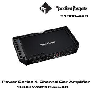 Details about Rockford Fosgate Power T1000-4AD 1000 Watt Class-AD 4-Channel  Amplifier