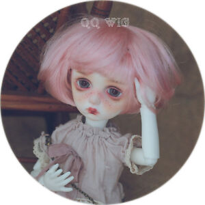 """QQ-57D BJD Doll Synthetic mohair Wig  Milk White color 5-6/"""" ; 6-7/"""" ;7-8/"""";8-9/"""""""
