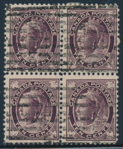 CANADA #73 BLOCK OF 4 FVF USED STAMPS CV $320 BT7330