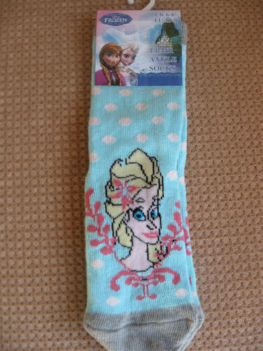 Disney Frozen childrens socks,6 DesignsVarious colours,sizes 6-8.5,9-12,12.5-3.5