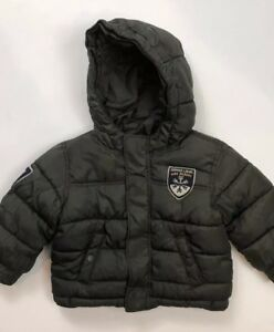 cf049ebcd794 Baby gap boys Olive Puffer Jacket Coat Size 18-24 Months