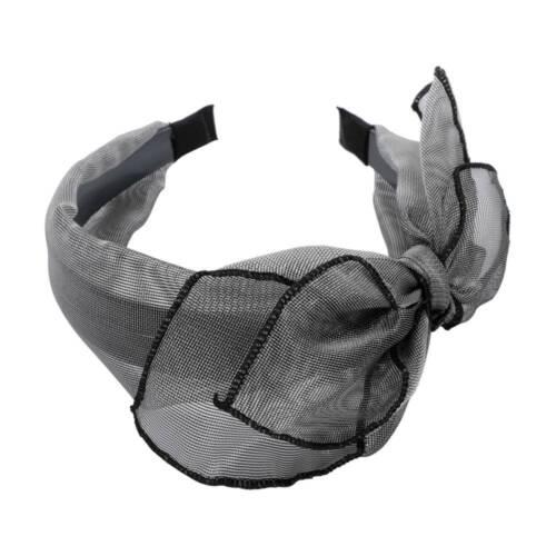 Frauen Mesh Stirnband Doppellagige Bögen Knoten Stirnband Romantische Headwear