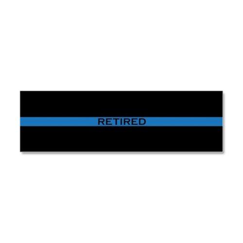 303580875 CafePress Retired Thin Blue Line Car Magnet