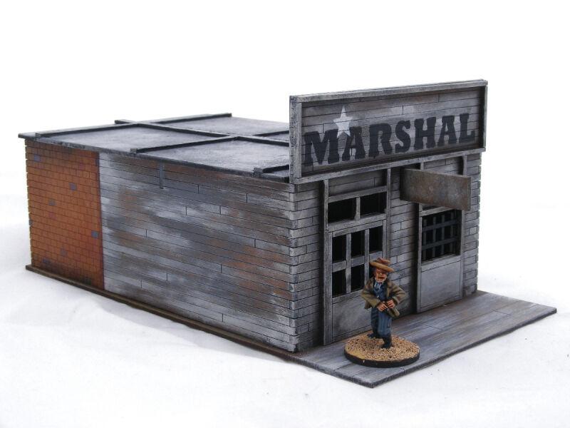 Old West vaquero occidental ciudad – 6 edificios Plus Corral terreno Pack 25mm, 28mm