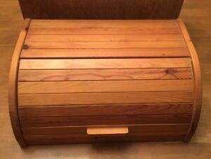 Image Is Loading IKEA Magasin Wooden Pine Bread Bin Box With