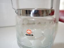 Eiskuebel Eisbehaelter Quist Ingrid Glas 60er 70er Ice buck Vintage Eiseimer