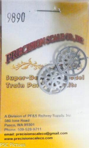 "Brake Wheels 22/"" Dia Plastic Precision Scale #9890 Large Scale Ajax Style"
