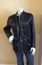 $1940 Jil Sander Black Lamb Leather Jacket Coat Size 38 Small Butter Soft Italy