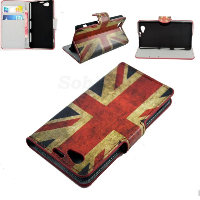 Stand Flip Leather Wallet Pouch Case Cover Skin For Sony Xperia Z1 Compact Mini