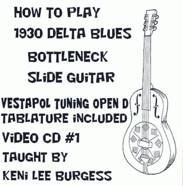 CD1 Open D  6 & 3 string Blues Guitar - cigar box slide national parlor keni lee