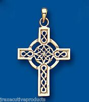 Cross Pendant Celtic Cross Yellow Gold Cross Necklace