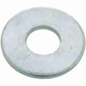 Rondelles plates Lu - acier zingué blanc - diamètre 6 mm - 200 pièces BRICOZOR