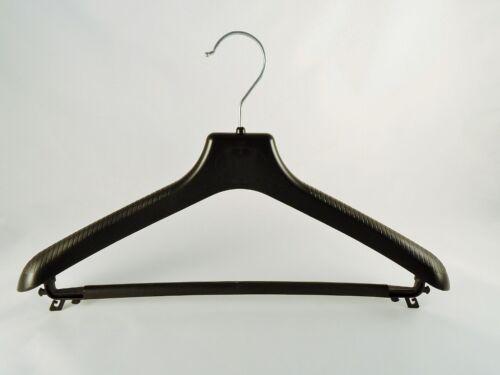 10 Stück NEU Kleiderbügel für Anzüge und 2-Teiler Kostümbügel 38 cm schwarz