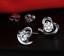 Orecchini-Donna-Uomo-Punto-Luce-Cuore-Cristallo-A-Swarovsk-Love-Coppia-Regalo miniatura 8