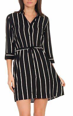 Only Damen Kleid Shirtkleid Hemdkleid Minikleid Bluse ...