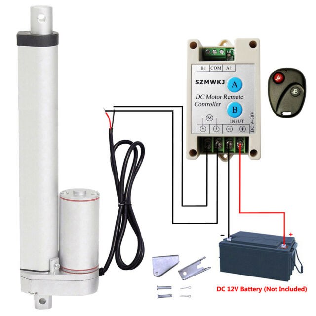 10 inch 12 Volt Linear Actuator with Remote Motor Controller for Furniture Car