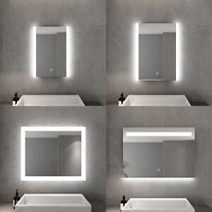 Badezimmerspiegel Gross.Led Badspiegel Wandspiegel Mit Led Beleuchtung Gross Badezimmerspiegel 45 100cm Ebay