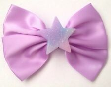 Pastel Purple Star Hair Bow Glitter Resin Fairy Kei Kawaii