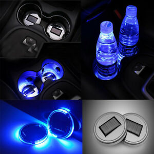 Image Is Loading Led Light Cover Solar Cup Pad Interior Decoration