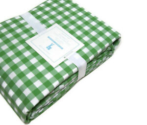 Pottery-Barn-Kids-Multi-Colors-Green-Check-Organic-Cotton-Queen-Sheet-Set-New